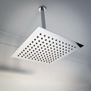 Polished chrome rain showerhead