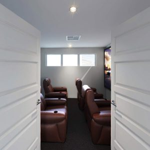 side shot of home theatre
